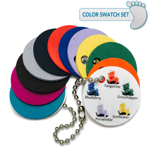 Set of 11 custom color swatches
